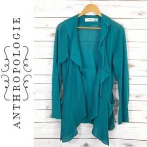 Anthropologie | Sparrow Blue Linen Cardigan Size L